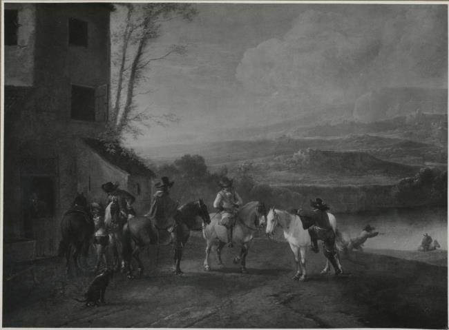 """attributed to <a class=""""recordlink artists"""" href=""""/explore/artists/85691"""" title=""""Pieter Wouwerman""""><span class=""""text"""">Pieter Wouwerman</span></a>"""