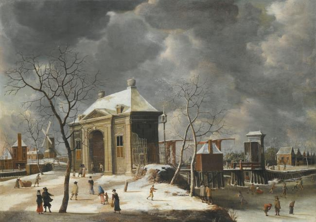 """attributed to <a class=""""recordlink artists"""" href=""""/explore/artists/5892"""" title=""""Abraham Beerstraaten""""><span class=""""text"""">Abraham Beerstraaten</span></a>"""