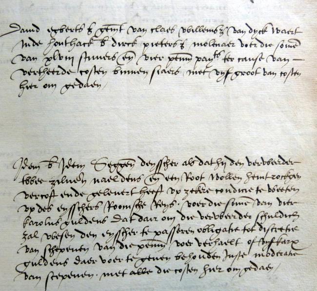 Leiden, 1548-07-27, Schepenbank (Oud Rechterlijk Archief), nummer toegang 0508, inv. no. 42+23 (Wedboek 1548-1549