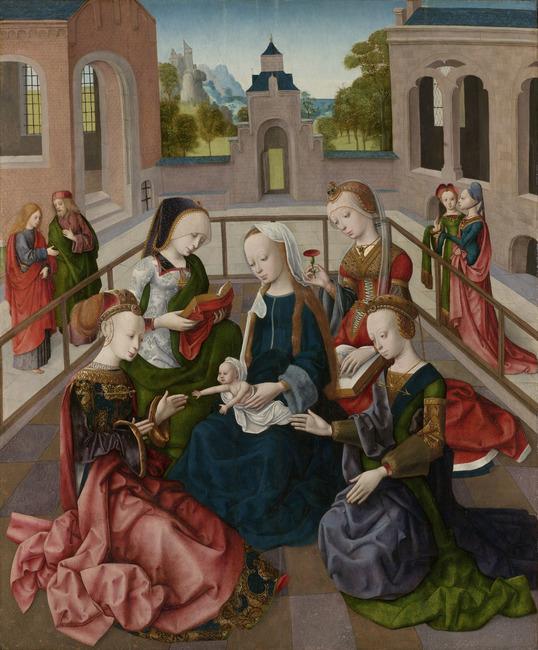 "<a class=""recordlink artists"" href=""/explore/artists/53850"" title=""Meester van de Virgo Inter Virgines""><span class=""text"">Meester van de Virgo Inter Virgines</span></a>"
