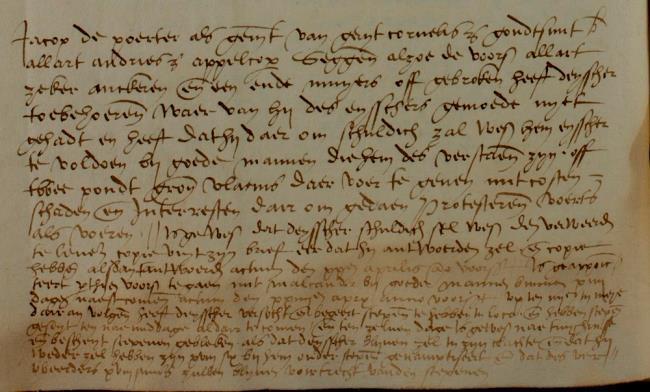 Leiden, 1545-04-13, Schepenbank (Oud Rechterlijk Archief), nummer toegang 0508, inv. no. 42+19 (Wedboek 1544-1545)