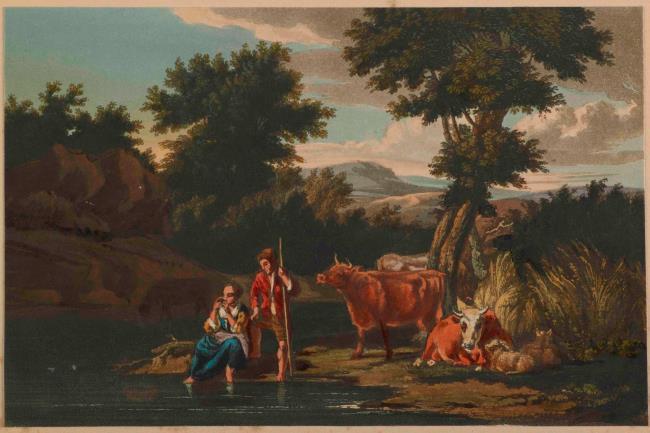 "<a class=""recordlink artists"" href=""/explore/artists/484329"" title=""Ralph Cockburn""><span class=""text"">Ralph Cockburn</span></a> after <a class=""recordlink artists"" href=""/explore/artists/7086"" title=""Dirck van Bergen""><span class=""text"">Dirck van Bergen</span></a>"