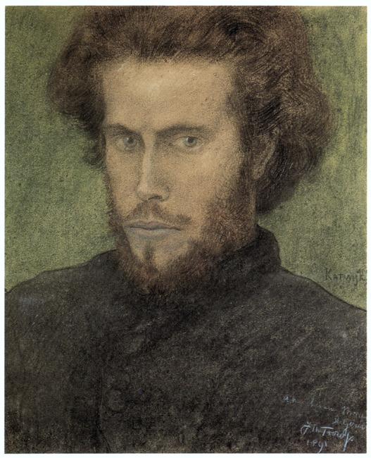 Portret van William Degouve de Nuncques (1867-1935)