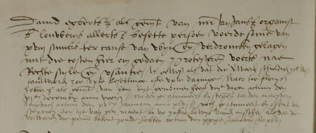Jansz Caga, Jan, Leiden, 1545-12-04, Schepenbank (Oud Rechterlijk Archief), nummer toegang 0508, inv 42+20 (Wedboek 1545)