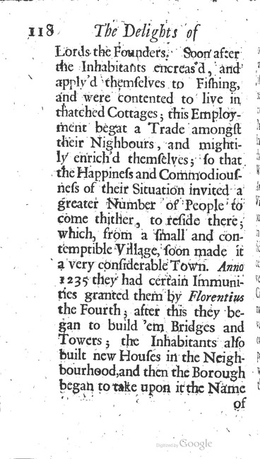paginanummer 118, Amsterdam, 1695-08, The Delights of Holland, or: A Three Months Travel about that and the other Provinces. With Observations and Reflections on their Trade, Wealth, Strength, Beauty, Policy, &c. Together with A Catalogue of the Rarities in the Anatomical School at Leyden