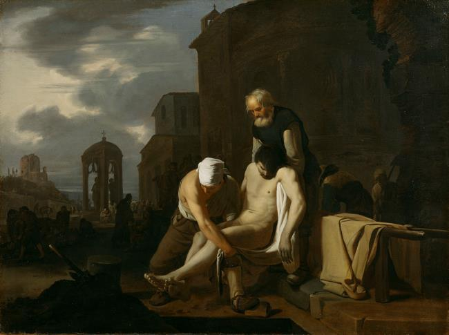 """<a class=""""recordlink artists"""" href=""""/explore/artists/76229"""" title=""""Michael Sweerts""""><span class=""""text"""">Michael Sweerts</span></a>"""