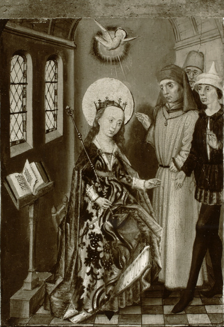 """circle of <a class=""""recordlink artists"""" href=""""/explore/artists/53620"""" title=""""Master of the Legend of Saint Barbara""""><span class=""""text"""">Master of the Legend of Saint Barbara</span></a>"""