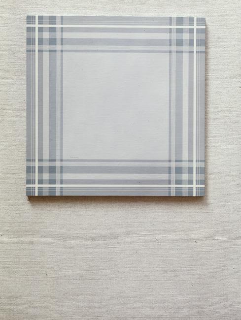 Compositie met blauwe ruit