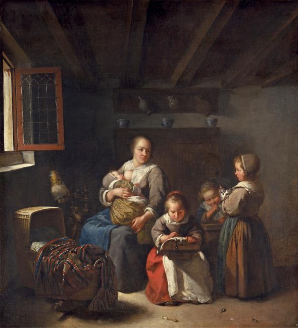 """<a class=""""recordlink artists"""" href=""""/explore/artists/59178"""" title=""""Caspar Netscher""""><span class=""""text"""">Caspar Netscher</span></a> of mogelijk <a class=""""recordlink artists"""" href=""""/explore/artists/30587"""" title=""""Joost van Geel""""><span class=""""text"""">Joost van Geel</span></a> of atelier van <a class=""""recordlink artists"""" href=""""/explore/artists/59178"""" title=""""Caspar Netscher""""><span class=""""text"""">Caspar Netscher</span></a>"""