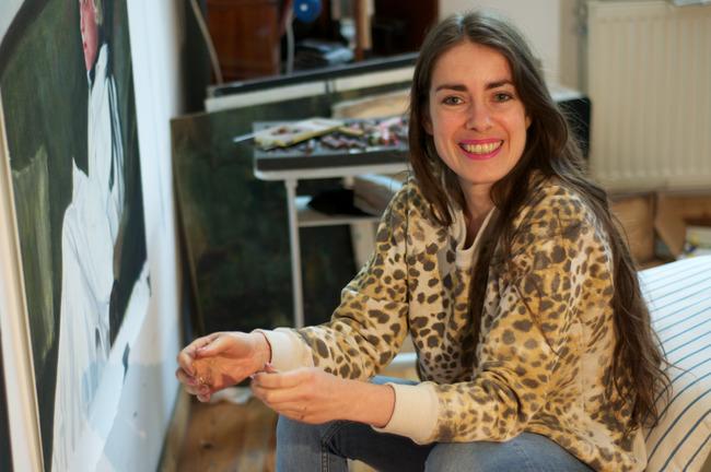Portrait of Iris van Dongen in her studio