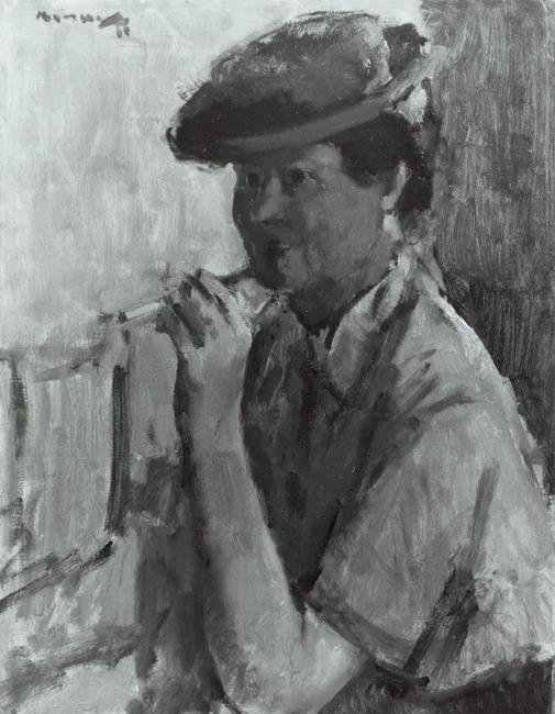 Portret van Mevrouw Burzeck