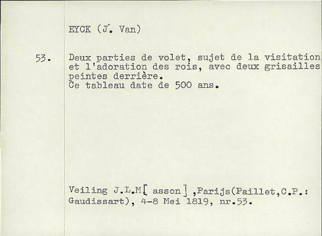 Eyck, Jan van, card number 1145916