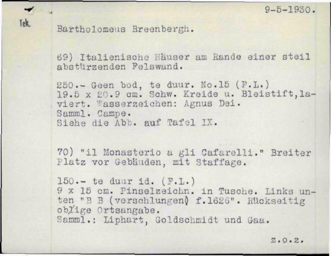 Breenbergh, Bartholomeus, baknummer 057