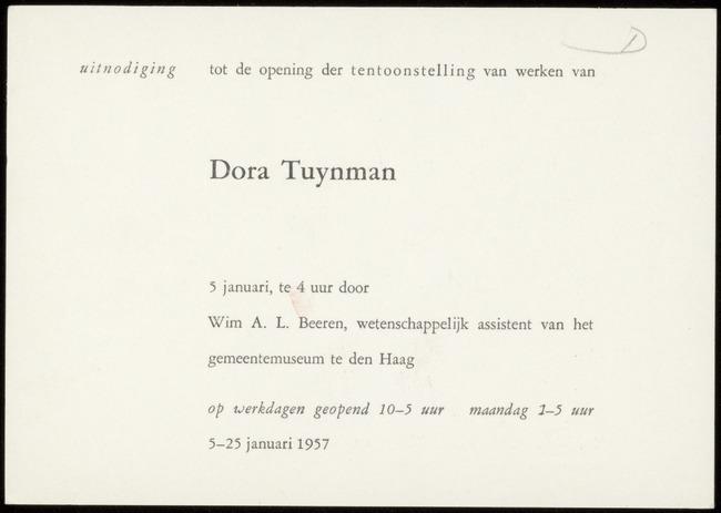 Kunstzaal Plaats, inventarisnummer 05105.042, Den Haag, 1957