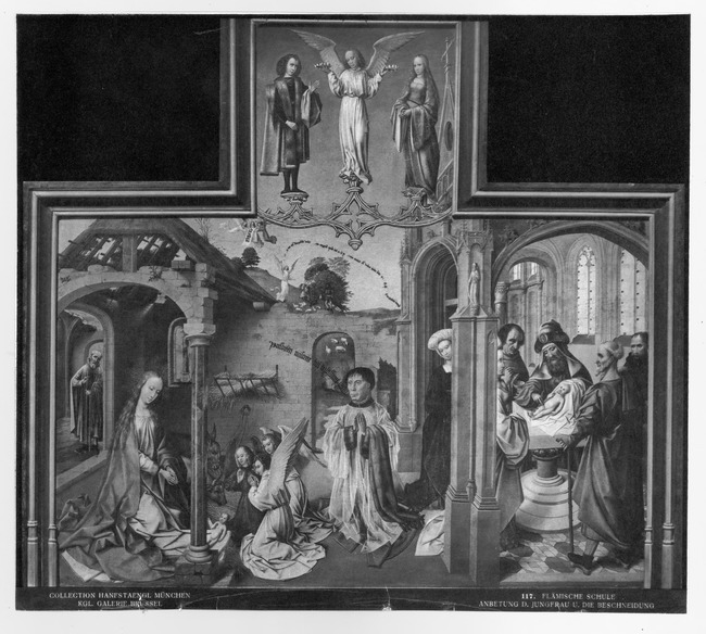 """<a class=""""recordlink artists"""" href=""""/explore/artists/111994"""" title=""""Master of the Orsoy Altarpiece""""><span class=""""text"""">Master of the Orsoy Altarpiece</span></a> or studio of <a class=""""recordlink artists"""" href=""""/explore/artists/18655"""" title=""""Colijn de Coter""""><span class=""""text"""">Colijn de Coter</span></a>"""