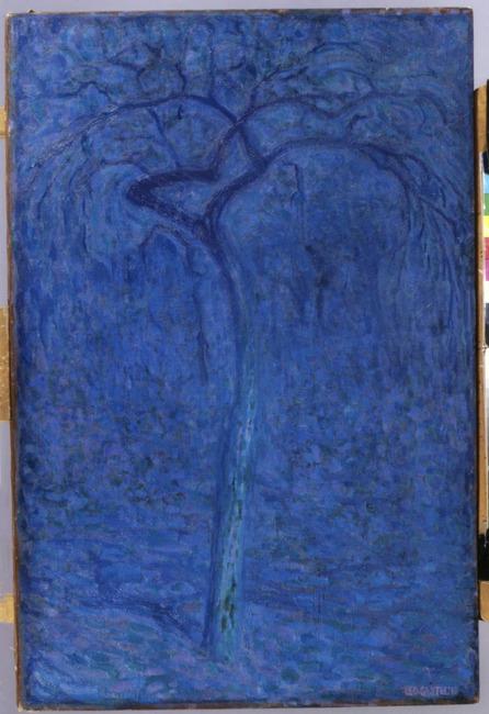 Boom in maanlicht (de Blauwe boom)