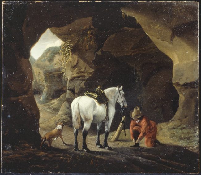 "trant/naar <a class=""recordlink artists"" href=""/explore/artists/85690"" title=""Philips Wouwerman""><span class=""text"">Philips Wouwerman</span></a> mogelijk <a class=""recordlink artists"" href=""/explore/artists/85691"" title=""Pieter Wouwerman (II)""><span class=""text"">Pieter Wouwerman (II)</span></a>"