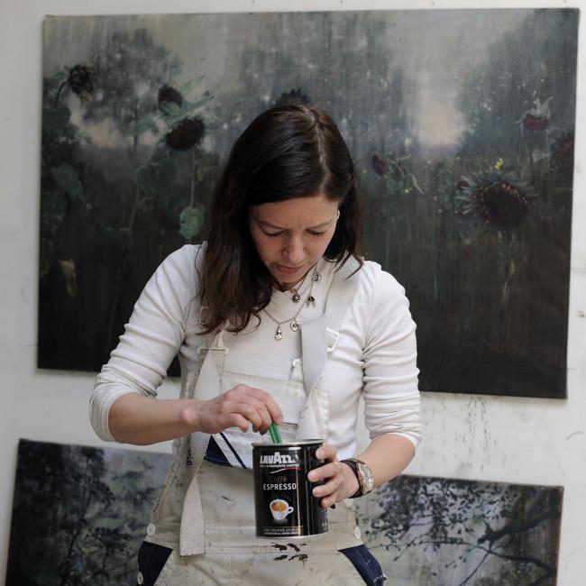Isabella Werkhoven in haar atelier