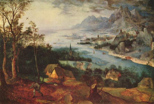 Landscape with the parable of the sower (Matthew 13:3-9)