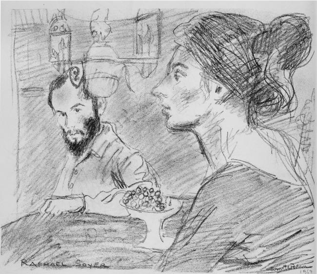 "<a class=""recordlink artists"" href=""/explore/artists/74069"" title=""Raphael Soyer""><span class=""text"">Raphael Soyer</span></a>"