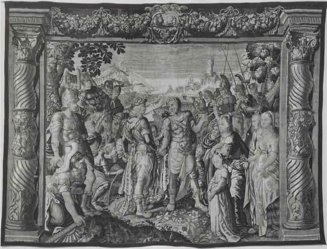 """wandtapijtweverij van <a class=""""recordlink artists"""" href=""""/explore/artists/1984"""" title=""""Anoniem""""><span class=""""text"""">Anoniem</span></a> <a class=""""thesaurus"""" href=""""/nl/explore/thesaurus?term=29960&domain=PLAATS"""" title=""""Noordelijke Nederlanden (historische regio)"""" >Noordelijke Nederlanden (historische regio)</a> ca. 1630-1650 naar ontwerp van <a class=""""recordlink artists"""" href=""""/explore/artists/52263"""" title=""""Karel van Mander (II)""""><span class=""""text"""">Karel van Mander (II)</span></a> en mogelijk <a class=""""recordlink artists"""" href=""""/explore/artists/12196"""" title=""""Salomon de Bray""""><span class=""""text"""">Salomon de Bray</span></a>"""
