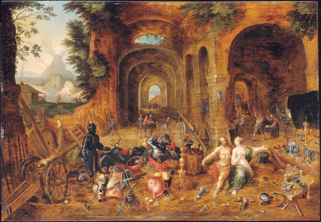 "<a class=""recordlink artists"" href=""/explore/artists/29002"" title=""Frans Francken (II)""><span class=""text"">Frans Francken (II)</span></a> and studio of <a class=""recordlink artists"" href=""/explore/artists/13289"" title=""Jan Breughel (II)""><span class=""text"">Jan Breughel (II)</span></a>"