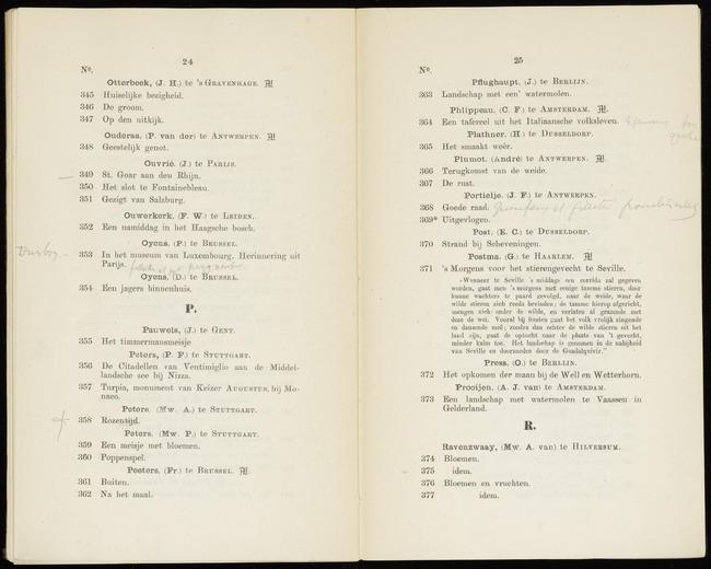 Oyens, David, catalogusnummer 354, 1871, Een jagers binnenhuis