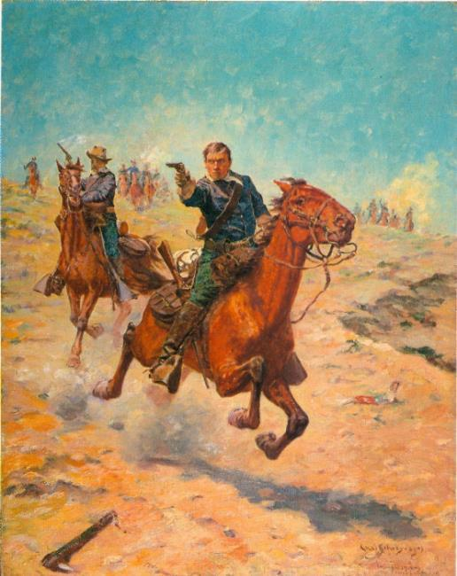 """<a class=""""recordlink artists"""" href=""""/explore/artists/71199"""" title=""""Charles Schreyvogel""""><span class=""""text"""">Charles Schreyvogel</span></a>"""