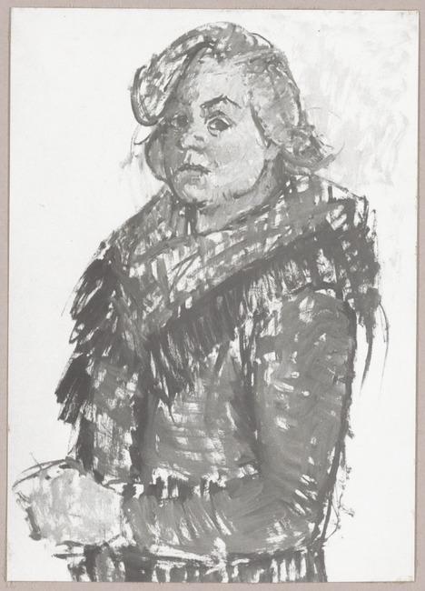 Zelfportret van Agnes van den Brandeler (1918-2002)