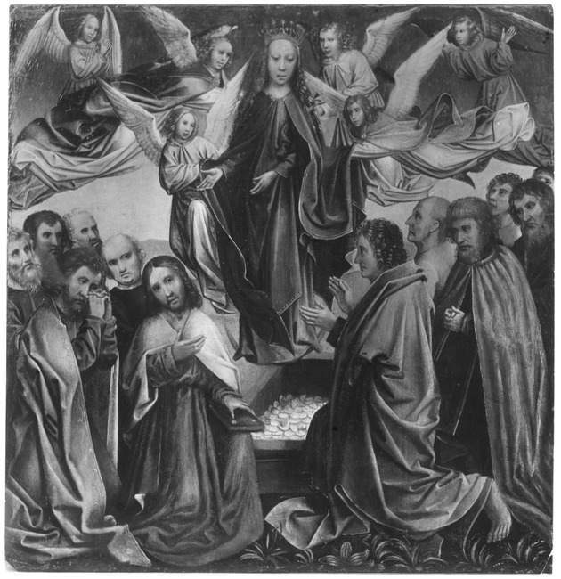 "trant/omgeving van <a class=""recordlink artists"" href=""/explore/artists/18655"" title=""Colijn de Coter""><span class=""text"">Colijn de Coter</span></a> of <a class=""recordlink artists"" href=""/explore/artists/111994"" title=""Master of the Orsoy Altarpiece""><span class=""text"">Master of the Orsoy Altarpiece</span></a>"
