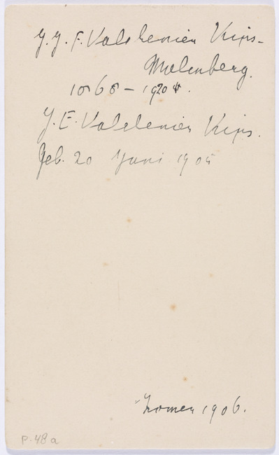 "<a class=""recordlink artists"" href=""/explore/artists/1984"" title=""Anoniem""><span class=""text"">Anoniem</span></a> zomer 1906 or <a class=""recordlink artists"" href=""/explore/artists/469594"" title=""S. Suringar""><span class=""text"">S. Suringar</span></a>"
