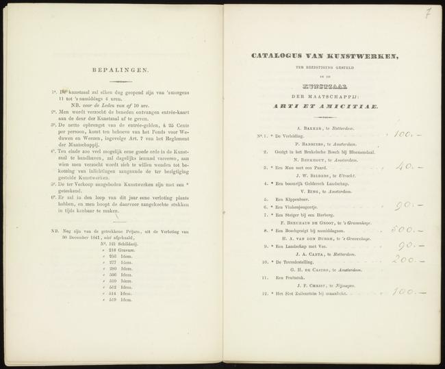 Berkhout, Nicolaus, catalogusnummer 3, 1842-03-14, Een Man met een paard