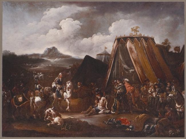 """follower of <a class=""""recordlink artists"""" href=""""/explore/artists/47343"""" title=""""Pieter van Laer""""><span class=""""text"""">Pieter van Laer</span></a>"""