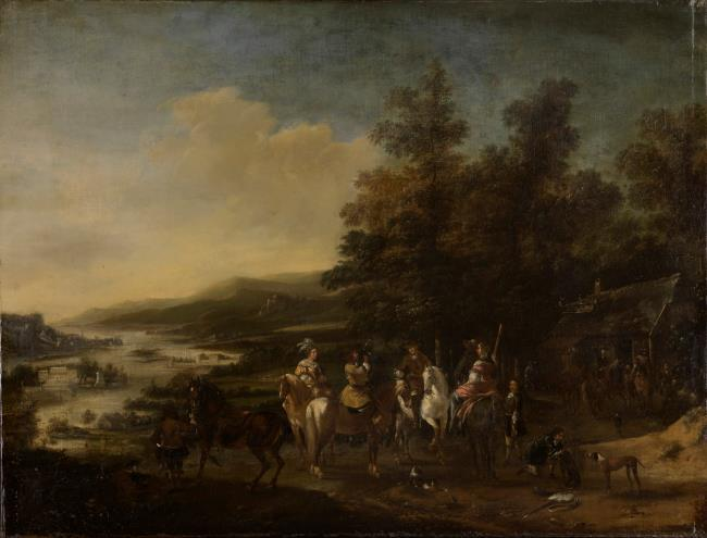 """attributed to <a class=""""recordlink artists"""" href=""""/explore/artists/85691"""" title=""""Pieter Wouwerman (II)""""><span class=""""text"""">Pieter Wouwerman (II)</span></a>"""