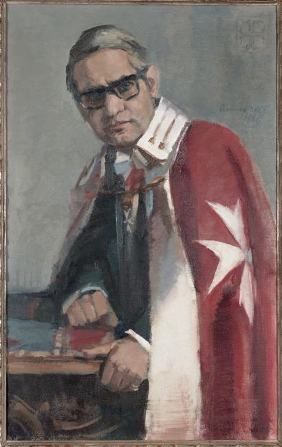 Portret van Franz Ludwig Lambert Maria Merckelbach (1919-1997)