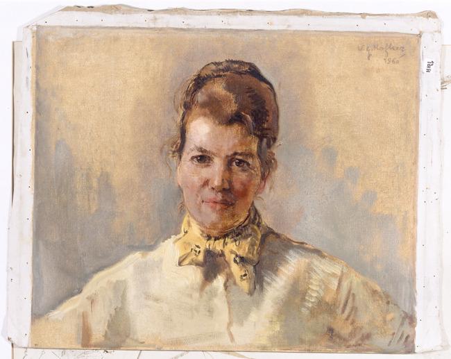 Maria met gele sjaal