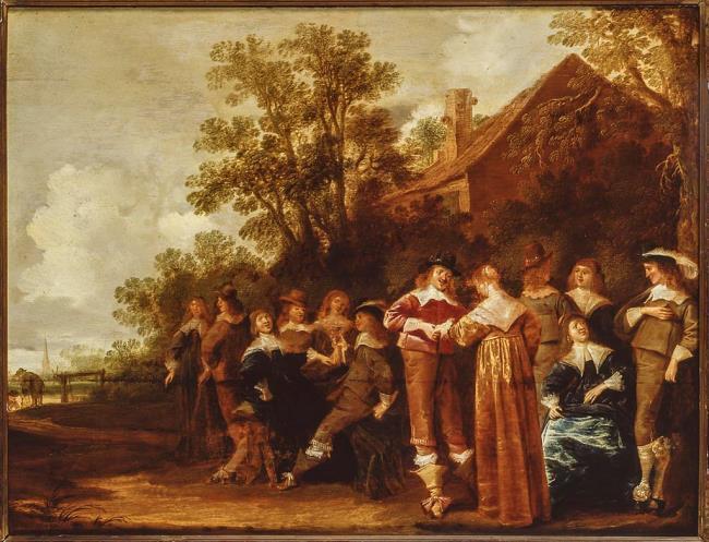 """<a class=""""recordlink artists"""" href=""""/explore/artists/35549"""" title=""""Dirck Hals""""><span class=""""text"""">Dirck Hals</span></a> and <a class=""""recordlink artists"""" href=""""/explore/artists/56782"""" title=""""Pieter de Molijn""""><span class=""""text"""">Pieter de Molijn</span></a>"""