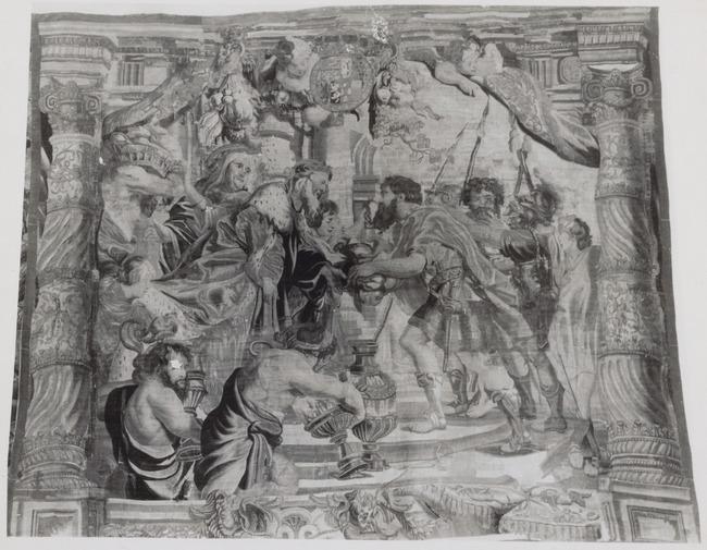 "wandtapijtweverij van <a class=""recordlink artists"" href=""/explore/artists/426369"" title=""Jan Frans van den Hecke""><span class=""text"">Jan Frans van den Hecke</span></a> naar ontwerp van <a class=""recordlink artists"" href=""/explore/artists/68737"" title=""Peter Paul Rubens""><span class=""text"">Peter Paul Rubens</span></a>"