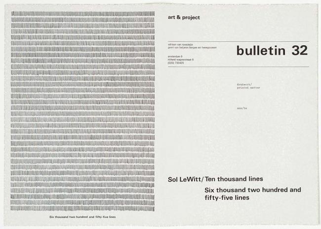 "<a class=""recordlink artists"" href=""/explore/artists/123203"" title=""Sol LeWitt""><span class=""text"">Sol LeWitt</span></a> en uitgegeven door <a class=""recordlink artists"" href=""/explore/artists/438870"" title=""Art & Project""><span class=""text"">Art & Project</span></a>"