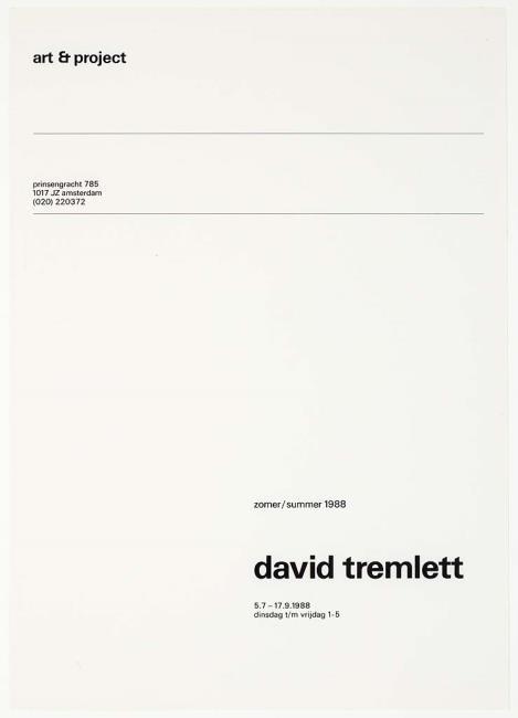 "<a class=""recordlink artists"" href=""/explore/artists/78142"" title=""David Tremlett""><span class=""text"">David Tremlett</span></a> and published by <a class=""recordlink artists"" href=""/explore/artists/438870"" title=""Art & Project""><span class=""text"">Art & Project</span></a>"