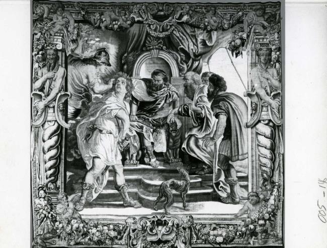 "wandtapijtweverij van <a class=""recordlink artists"" href=""/explore/artists/426356"" title=""Jan Raes (II)""><span class=""text"">Jan Raes (II)</span></a> naar ontwerp van <a class=""recordlink artists"" href=""/explore/artists/68737"" title=""Peter Paul Rubens""><span class=""text"">Peter Paul Rubens</span></a>"