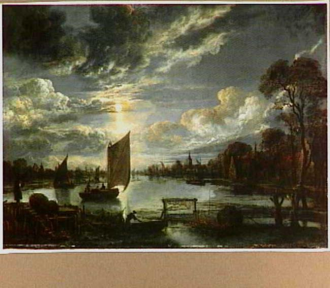 """attributed to <a class=""""recordlink artists"""" href=""""/explore/artists/59047"""" title=""""Aert van der Neer""""><span class=""""text"""">Aert van der Neer</span></a>"""