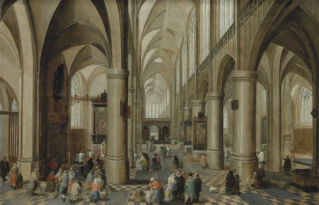"""<a class=""""recordlink artists"""" href=""""/explore/artists/59042"""" title=""""Pieter Neefs (I)""""><span class=""""text"""">Pieter Neefs (I)</span></a> en toegeschreven aan <a class=""""recordlink artists"""" href=""""/explore/artists/76786"""" title=""""David Teniers (II)""""><span class=""""text"""">David Teniers (II)</span></a>"""