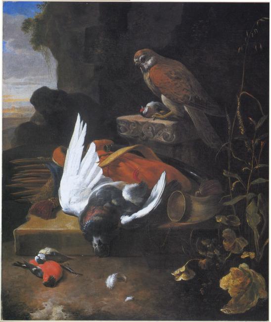 "<a class=""recordlink artists"" href=""/explore/artists/39400"" title=""Melchior d' Hondecoeter""><span class=""text"">Melchior d' Hondecoeter</span></a>"