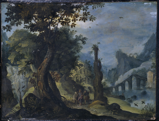 """attributed to <a class=""""recordlink artists"""" href=""""/explore/artists/12590"""" title=""""Paul Bril""""><span class=""""text"""">Paul Bril</span></a>"""