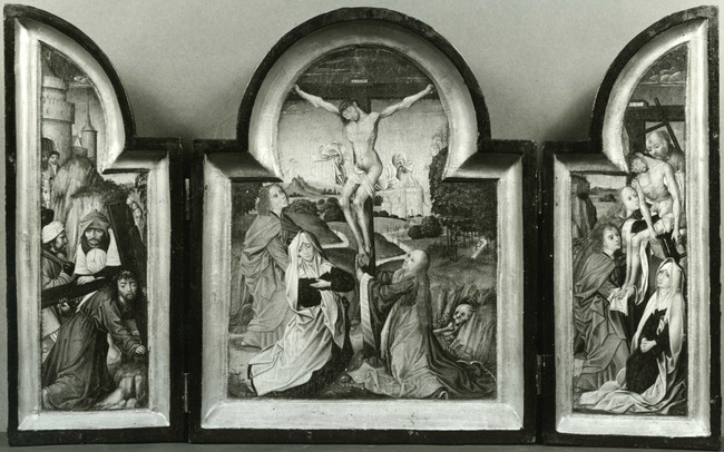"""navolger van <a class=""""recordlink artists"""" href=""""/explore/artists/83963"""" title=""""Rogier van der Weyden""""><span class=""""text"""">Rogier van der Weyden</span></a> of <a class=""""recordlink artists"""" href=""""/explore/artists/1984"""" title=""""Anoniem""""><span class=""""text"""">Anoniem</span></a> <a class=""""thesaurus"""" href=""""/nl/explore/thesaurus?term=29961&domain=PLAATS"""" title=""""Zuidelijke Nederlanden (historische regio)"""" >Zuidelijke Nederlanden (historische regio)</a> derde kwart 15de eeuw"""