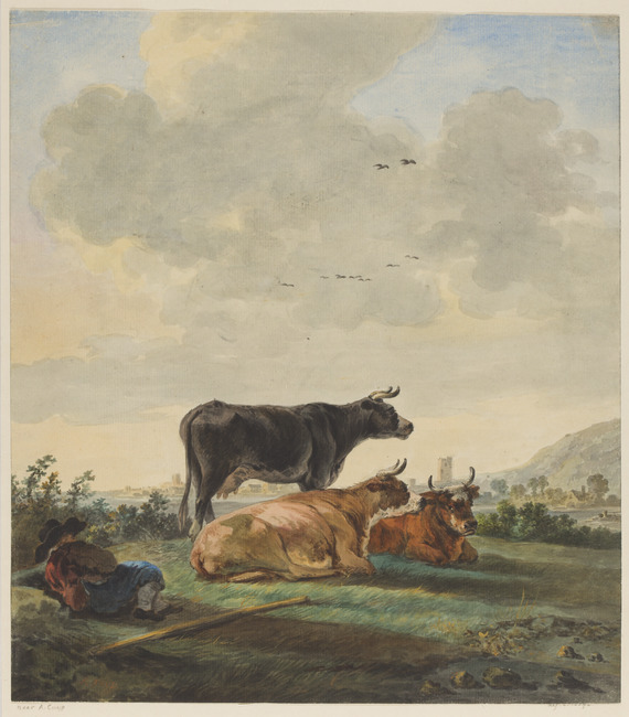 """attributed to <a class=""""recordlink artists"""" href=""""/explore/artists/49829"""" title=""""Johannes van Lexmond""""><span class=""""text"""">Johannes van Lexmond</span></a> after <a class=""""recordlink artists"""" href=""""/explore/artists/19498"""" title=""""Aelbert Cuyp""""><span class=""""text"""">Aelbert Cuyp</span></a>"""
