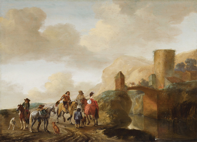 "trant/naar/was <a class=""recordlink artists"" href=""/explore/artists/85690"" title=""Philips Wouwerman""><span class=""text"">Philips Wouwerman</span></a>"
