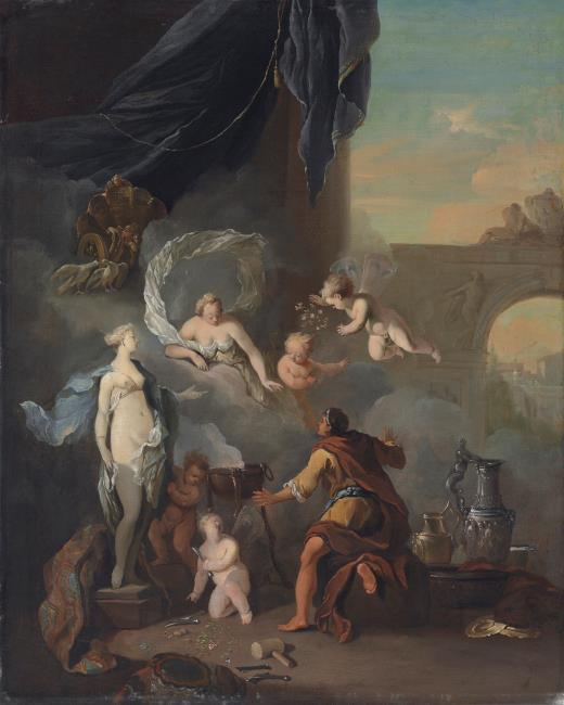 """attributed to <a class=""""recordlink artists"""" href=""""/explore/artists/26011"""" title=""""Ottomar Elliger (II)""""><span class=""""text"""">Ottomar Elliger (II)</span></a>"""