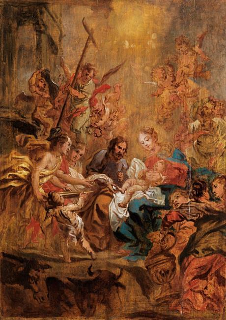 """attributed to <a class=""""recordlink artists"""" href=""""/explore/artists/71410"""" title=""""Cornelis Schut (I)""""><span class=""""text"""">Cornelis Schut (I)</span></a>"""